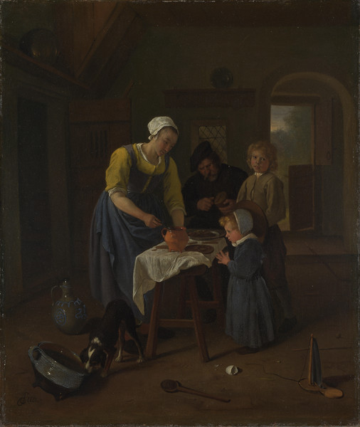 A Peasant Family at Meal-time ('Grace before Meat')