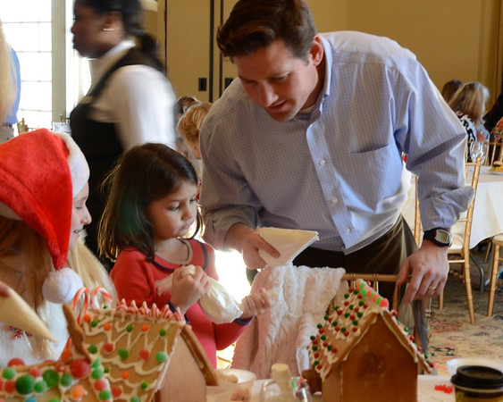 Providence Country Club Living-Gingerbread House Fun 2014