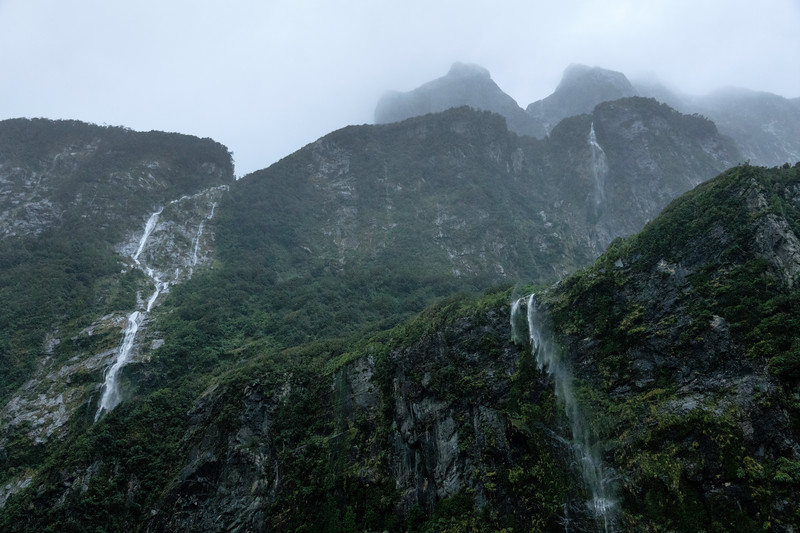 Winter Waterfalls on Milford Sound