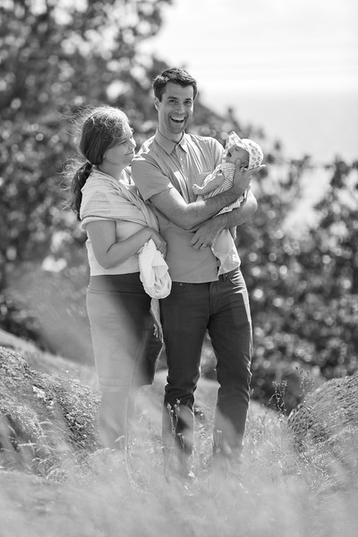 Luke Geneva and Maeve - Family Portraits in Walbran Park