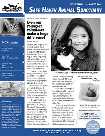 Newsletter-SHAS Winter 06