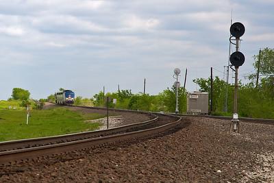 Amtrak, Haslet Turnout 04-19-09