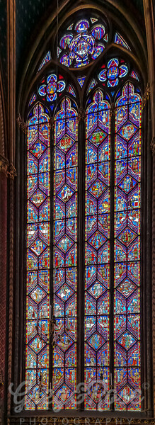 One of the many windows in La Chapelle