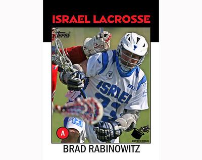 Israel Brad Rabinowitz 1986 TOPPS (WLC2014)