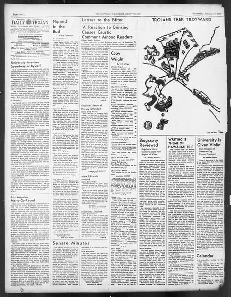 Daily Trojan, Vol. 29, No. 70, January 19, 1938