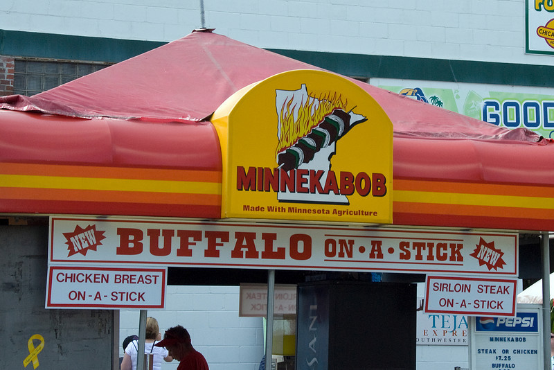 Food stall in Minnesota State Fair 2009
