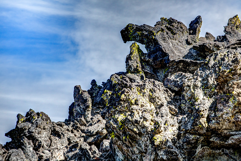 Lava Flow. Davis Lake, Oregon