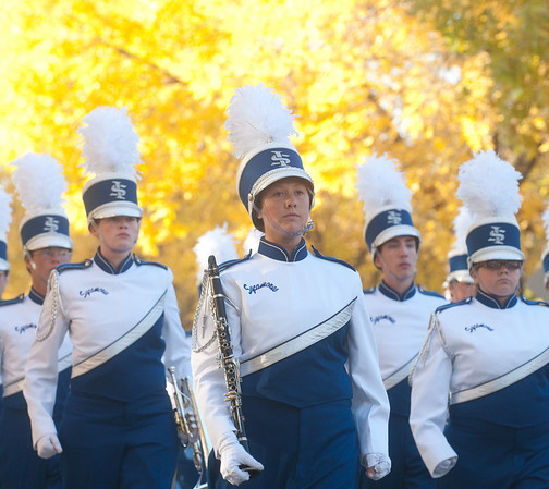 Blue and White Parade