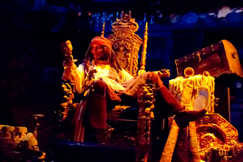 Jack Sparrow's Tresure Room Inside Pirates Of The Carribean Ride @ Disneyland