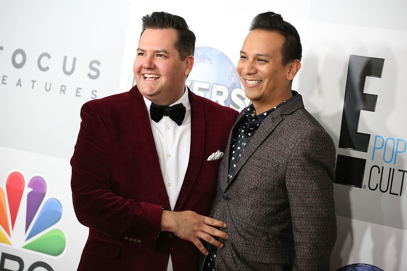 . Television personality Ross Mathews (L) and stylist Salvador Camarena attend NBCUniversal\'s 72nd Annual Golden Globes After Party at The Beverly Hilton Hotel on January 11, 2015 in Beverly Hills, California.  (Photo by Imeh Akpanudosen/Getty Images)
