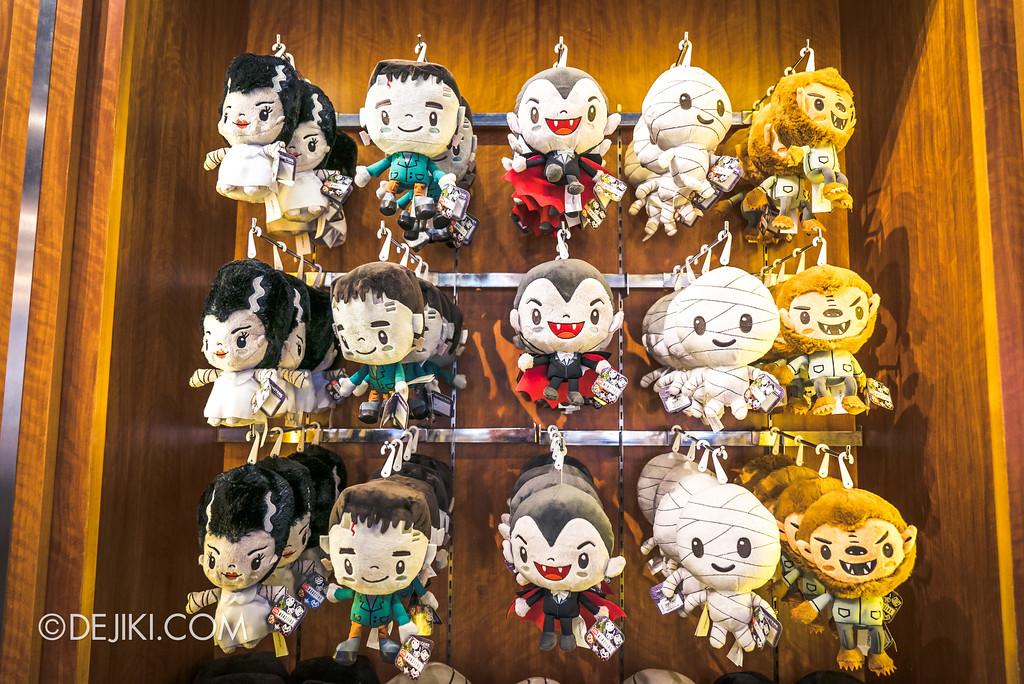 Universal Studios Singapore Park Update Aug 2018 / Universal Monsters Merch Plush variety