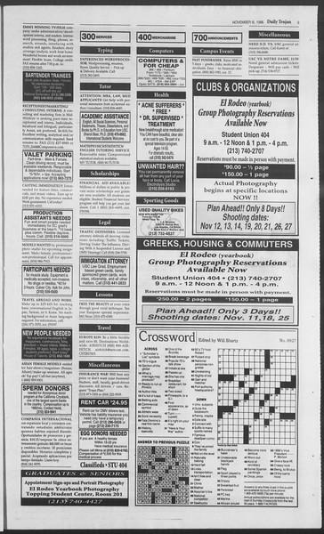 Daily Trojan, Vol. 129, No. 51, November 08, 1996