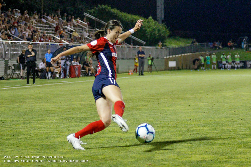 Washington Spirit forward Cali Farquharson (17) at Maureen Hendricks Field in Boyds, MD, on July 20, 2019.