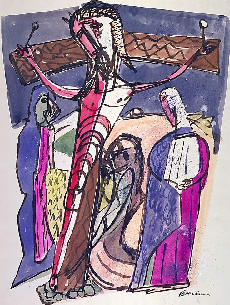 "Romare Bearden, ""Golgotha"" (c. 1945)"