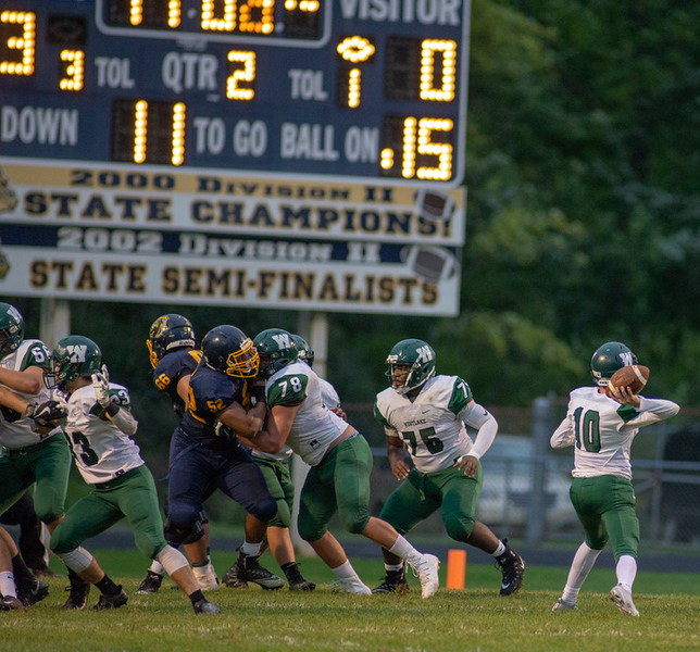 . Aimee Bielozer - The Morning Journal<br> Scenes from the Olmsted Falls vs. Westlake game on Sept. 7.