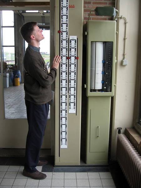 William sizes things up at the Rijnland District Water Control Board