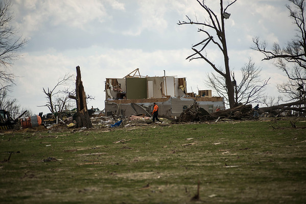 Illinois Tornado Damage west of Kirkland, Il
