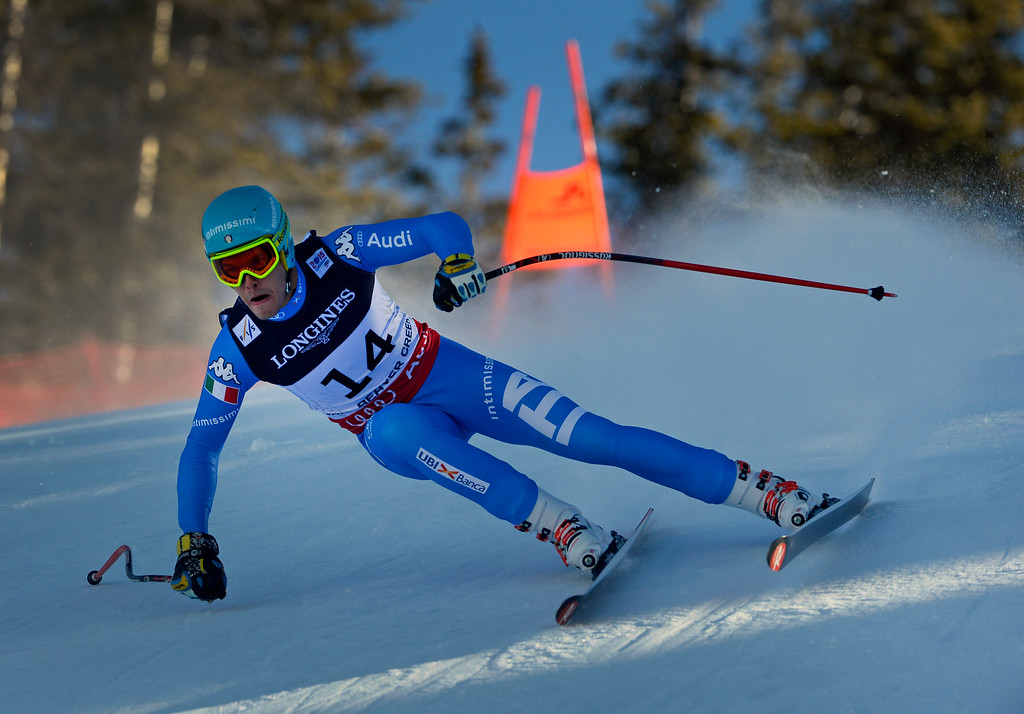 . BEAVER CREEK, CO - FEBRUARY 8: Christof Innerhofer of Italy runs the course at the Men\'s downhill portion of the Men\'s alpine combined race at the FIS Alpine World Ski Championships in Beaver, CO. February 8, 2015.  (Photo By Helen H. Richardson/The Denver Post)