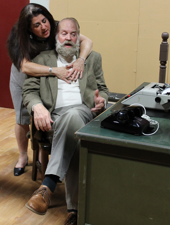 """. Myra (Civia Wiesner), left, and husband Sidney (Jack Warren) star in \""""Deathtrap\"""" at Geauga Lyric Theater. The show runs Sept. 29 through Oct. 15. For more information, visit www.geaugatheater.org. (Submitted)"""