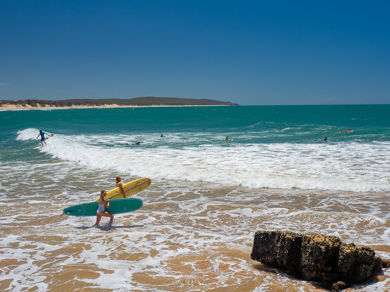 Surfing in Agnes Water