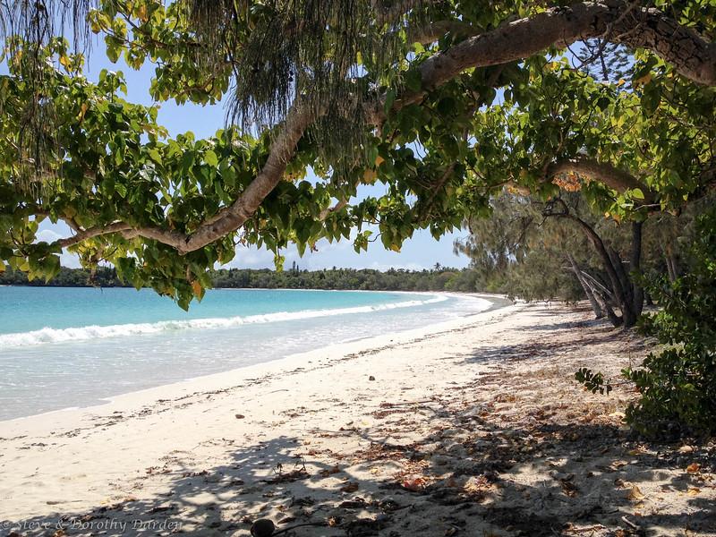 The beautiful beach at Kuto Bay