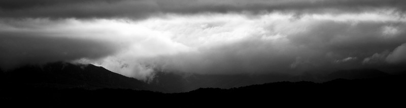 Storm over the mountain from High Mountain Mist Nov. 2009
