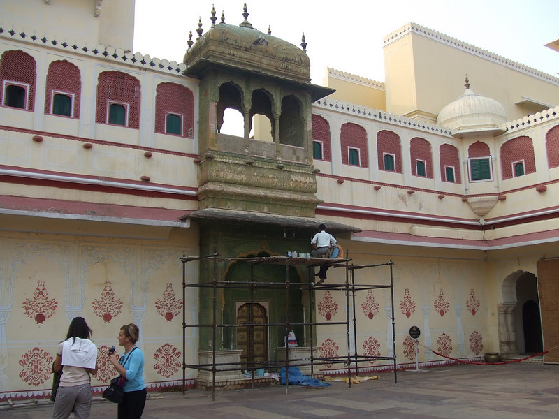 Most of the famous structures in India are in the process of being restored.