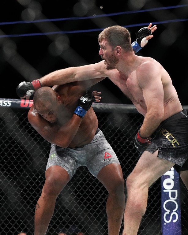 . Tim Phillis - The News-Herald UFC 226 on July 7, 2018, in Las Vegas. Stipe Miocic vs. Daniel Cormier.