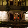 Lake Palace is a hotel of 83 rooms and suites featuring white marble walls, located on a natural foundation of 4 acres of rock on the Jag Niwas island in Lake Pichola, Udaipur.