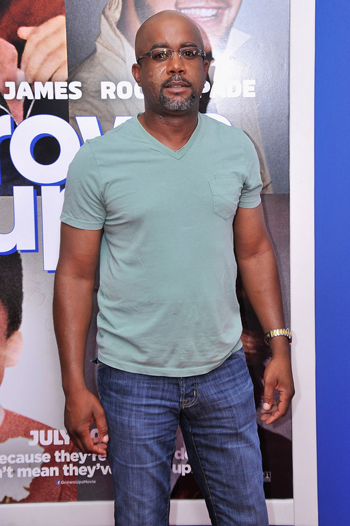 """. Musician Darius Rucker attends the \""""Grown Ups 2\"""" New York Premiere at AMC Lincoln Square Theater on July 10, 2013 in New York City.  (Photo by Stephen Lovekin/Getty Images)"""