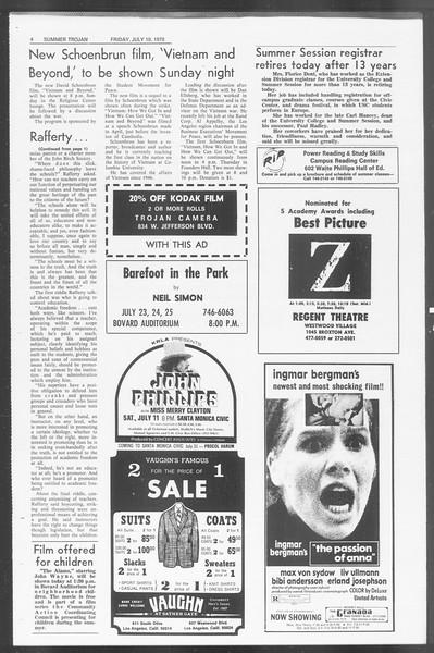 Summer Trojan, Vol. 62, No. 6, July 10, 1970