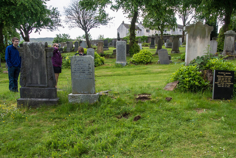 Grave of Great Great Grandparents, James and Annie