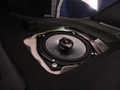 2006  Mitsubishi Lancer Evolution IX GSR Rear Speaker Installation - USA