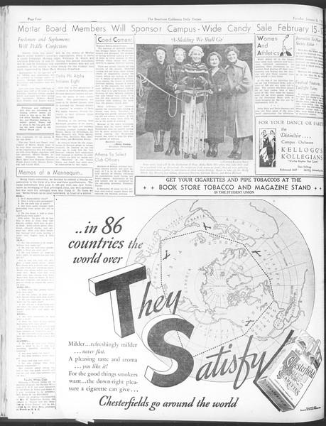 Daily Trojan, Vol. 28, No. 74, January 26, 1937