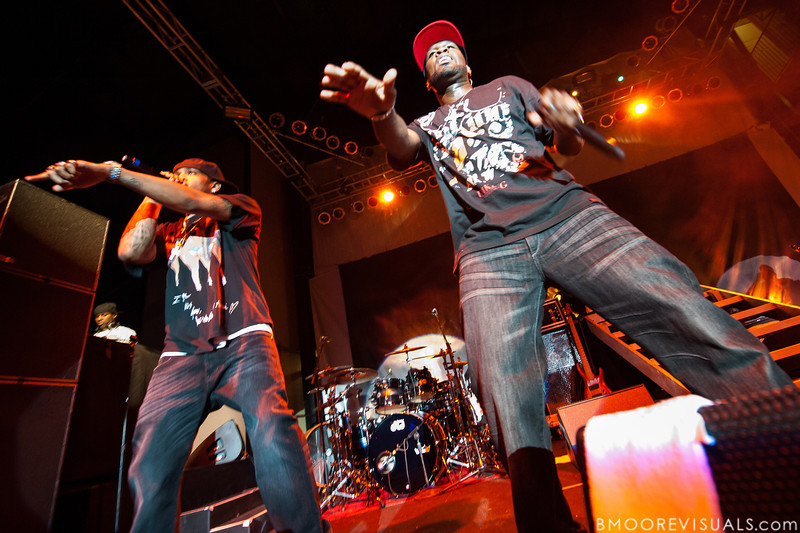 Lloyd Banks and 50 Cent perform at Jannus Live in St. Petersburg, Florida on June 16, 2010.
