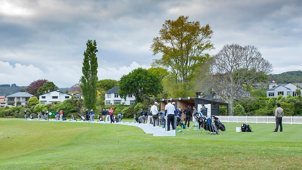 Photos of players practising on the range at the Royal Wellington Golf Club during Practice Day 1 of the Asia-Pacific Amateur Championship tournament 2017 held in Heretaunga, Upper Hutt, New Zealand in late October 2017. Copyright John Mathews 2017.   www.megasportmedia.co.nz