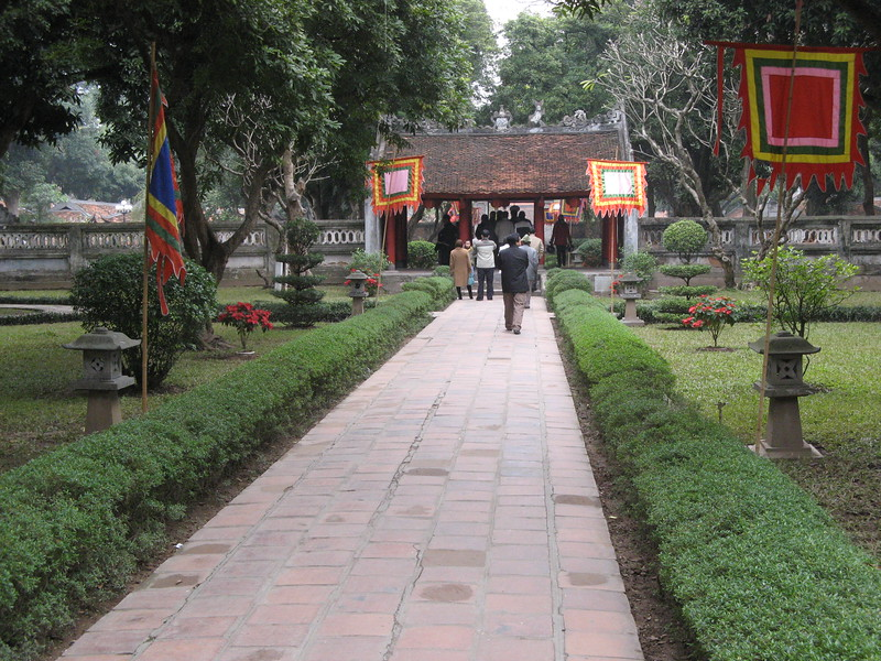 Entrance to the Temple of Literature.