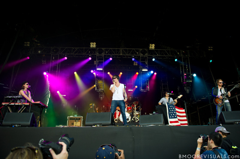 """Kit French, Will Anderson, Johnny Stubblefield Alex Hargrave, and Nate McFarland of Parachute perform on November 12, 2011 during """"Orlando Calling 2011"""" at The Citrus Bowl in Orlando, Florida"""