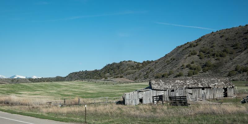 Old Barn Near American Falls Idaho