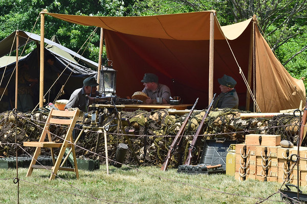 World War II reenactment in Chesterfield Township