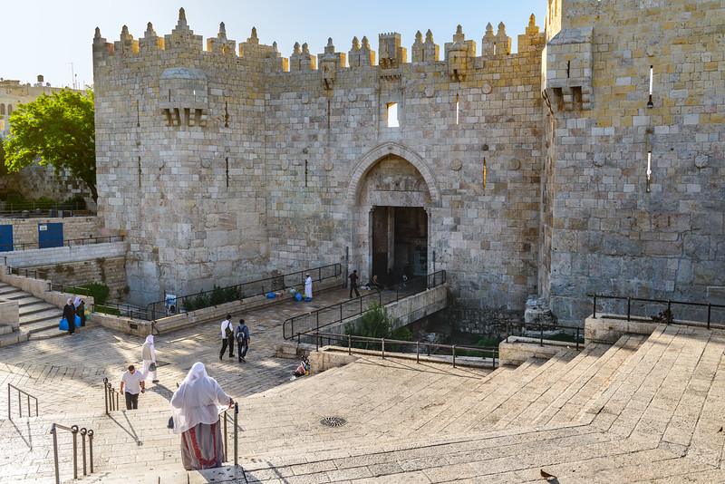 The Damascus Gate in early morning