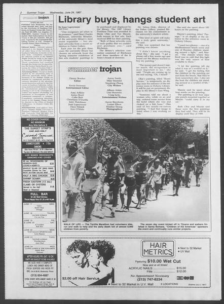 Summer Trojan, Vol. 104, No. 6, June 24, 1987