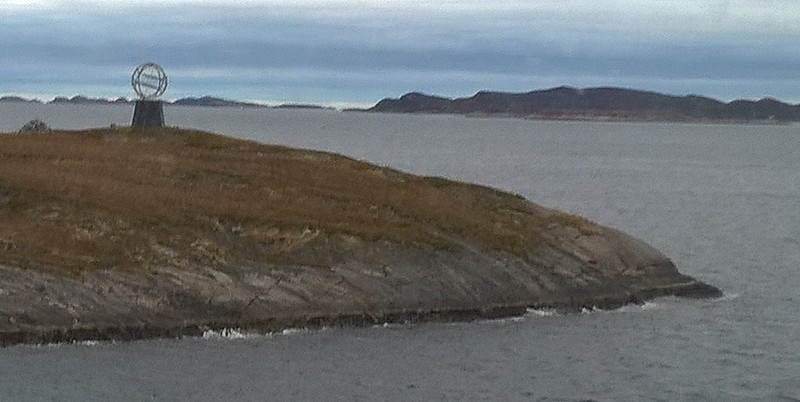 We pass the Arctic Circle coming and going.