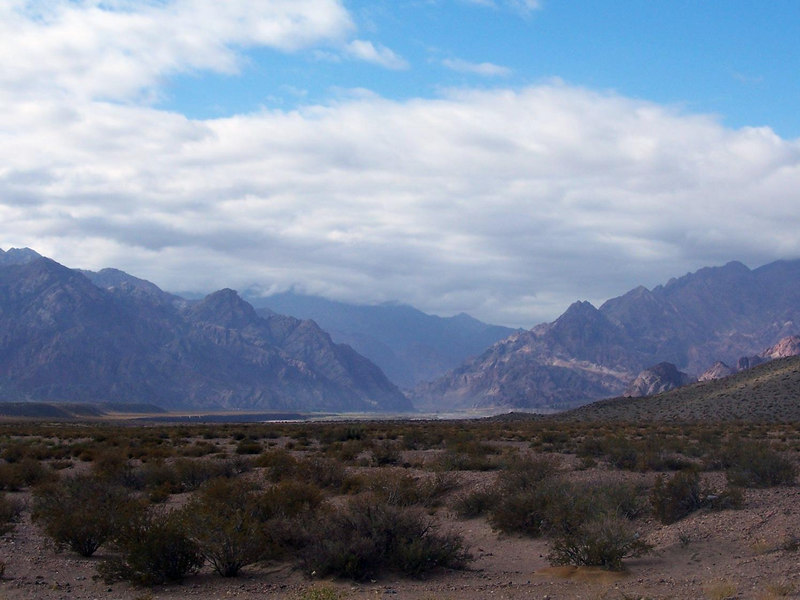View up the Mendoza River valley.