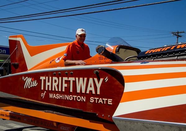 The Miss Thriftway U-60 Hydroplane in Vashon Island Strawberry Festival Grand Parades, 2013-2016