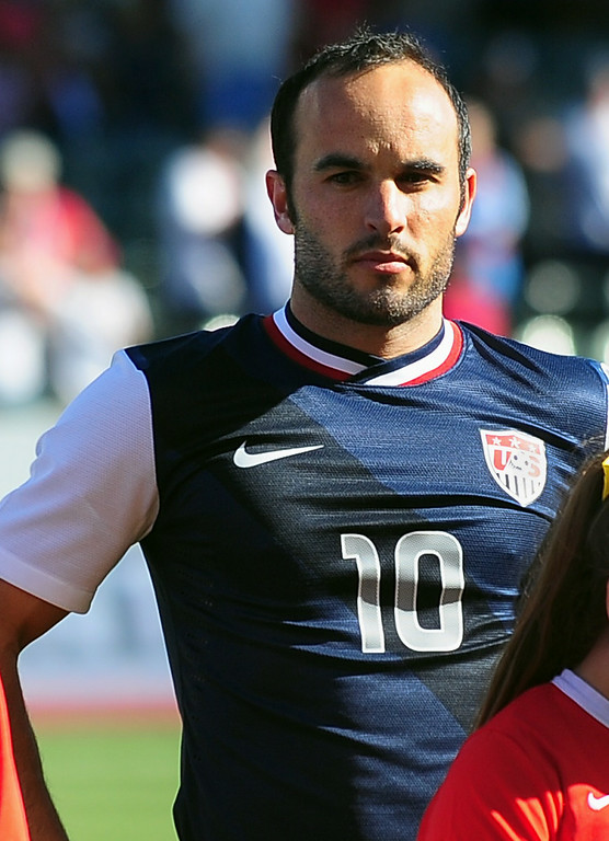 . US forward Landon Donovan, ahead of pre-World Cup friendly match against Korea Republic in Carson, California in this February 1, 2014, file photo.  AFP PHOTO/Frederic J.  BROWN/AFP/Getty Images