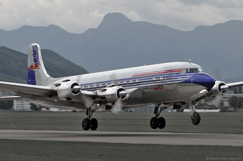 N996DM Douglas DC-6B Flying Bulls @ Bern Switzerland 27Aug10
