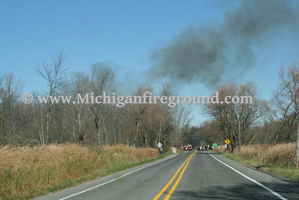 10/17/11 - Meridian Twp double house fire, 5983 & 5995 E. Lake Dr