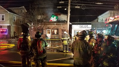 2 Alarm commercial  structure fire Pequannock N.J. 135 Newark Pompton Turnpike