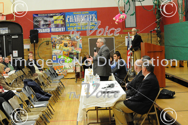 Aurora, IL 4th Ward candidate forum at Freeman Elementary 2-21-13